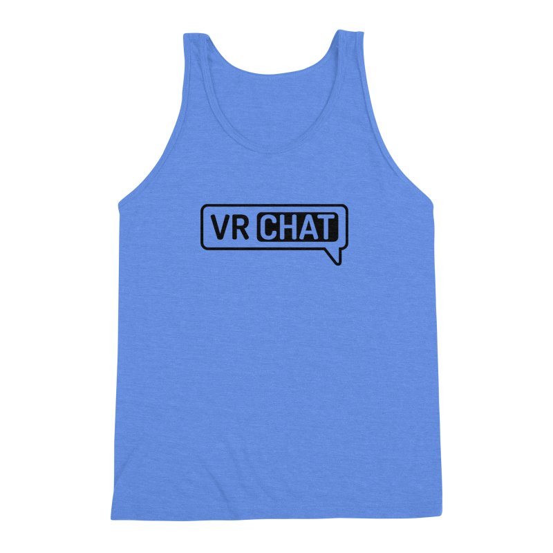 Men's Tank Tops - Large Black Logo Men's Triblend Tank by VRChat Merchandise