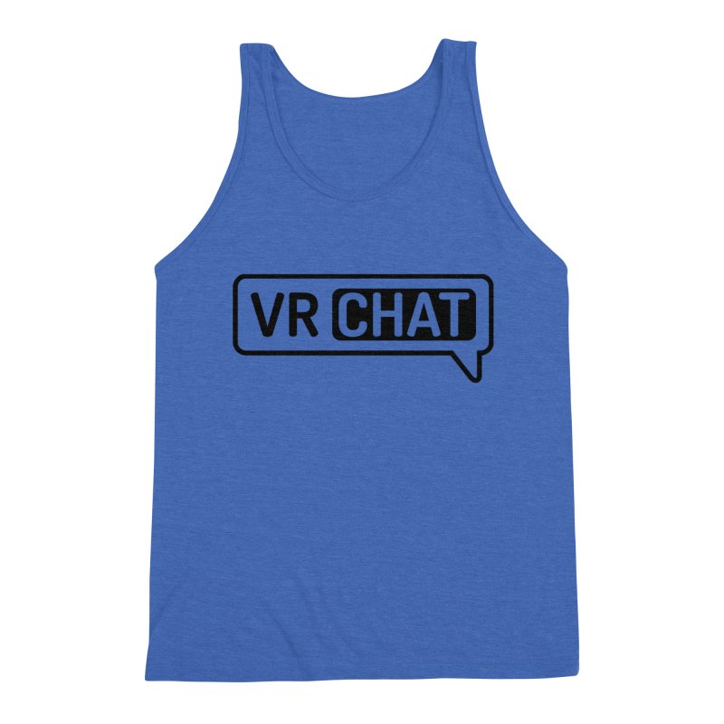 Men's Tank Tops - Large Black Logo Men's Triblend Tank by VRChat Merchandise