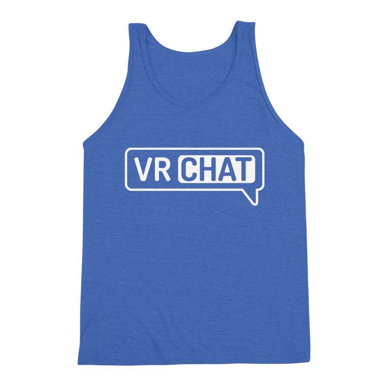 Men's Tank Tops - Large White Logo Men's Tank by VRChat Merchandise