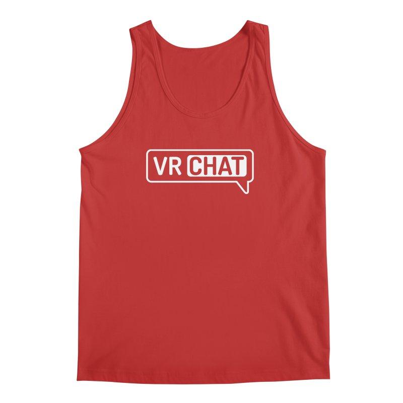 Men's Tank Tops - Large White Logo Men's Regular Tank by VRChat Merchandise