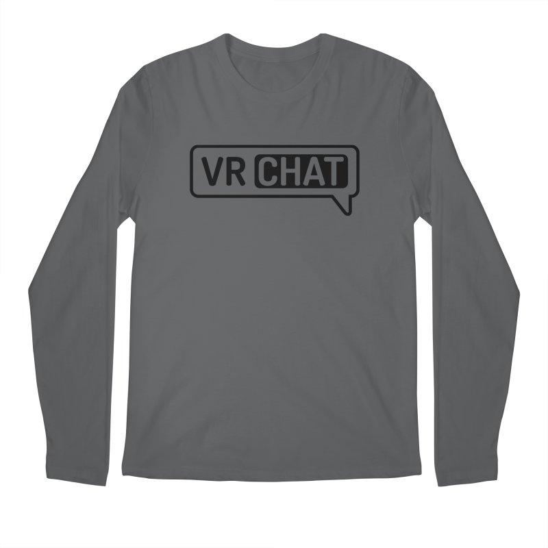 Men's Long Sleeve Shirts - Large Black Logo Men's Longsleeve T-Shirt by VRChat Merchandise