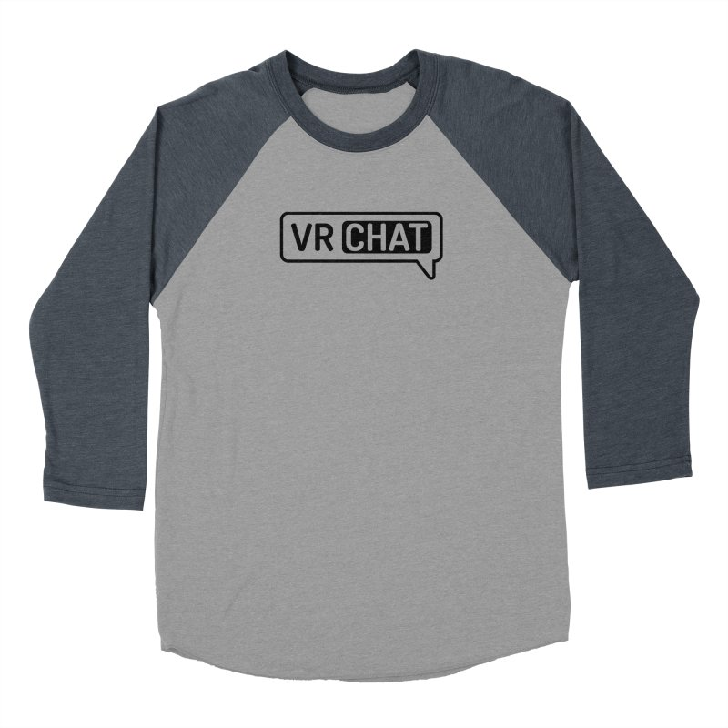 Men's Long Sleeve Shirts - Large Black Logo Men's Baseball Triblend Longsleeve T-Shirt by VRChat Merchandise