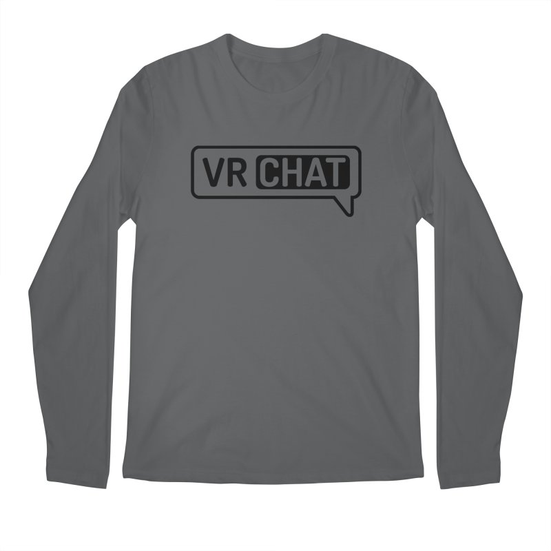 Men's Long Sleeve Shirts - Large Black Logo Men's Longsleeve T-Shirt by VRChat Merchandise