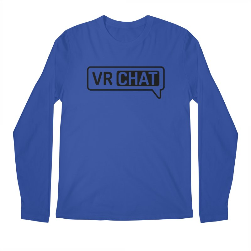 Men's Long Sleeve Shirts - Large Black Logo Men's Regular Longsleeve T-Shirt by VRChat Merchandise