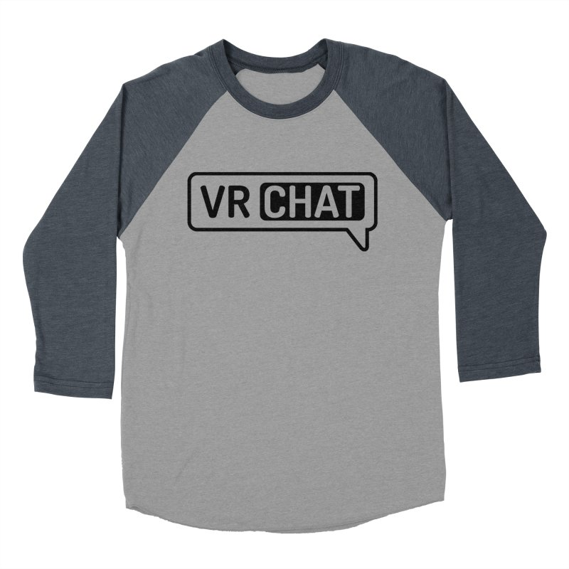 Men's Long Sleeve Shirts - Large Black Logo Men's Baseball Triblend Longsleeve T-Shirt by VRChat Merchandise