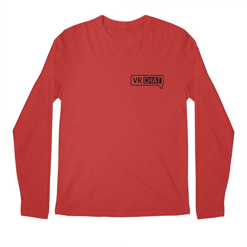Men's Long Sleeve Shirts - Small Black Logo Men's Longsleeve T-Shirt by VRChat Merchandise