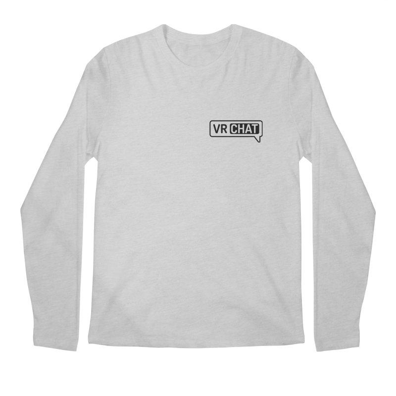 Men's Long Sleeve Shirts - Small Black Logo Men's Regular Longsleeve T-Shirt by VRChat Merchandise