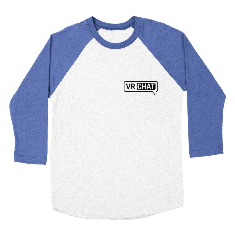 Men's Long Sleeve Shirts - Small Black Logo Men's Baseball Triblend Longsleeve T-Shirt by VRChat Merchandise