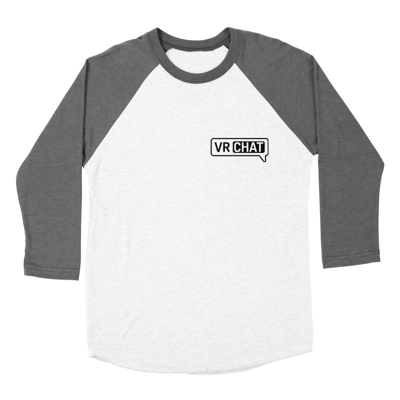 Men's Long Sleeve Shirts - Small Black Logo Men's Baseball Triblend Longsleeve T-Shirt by VRChat Merchandise