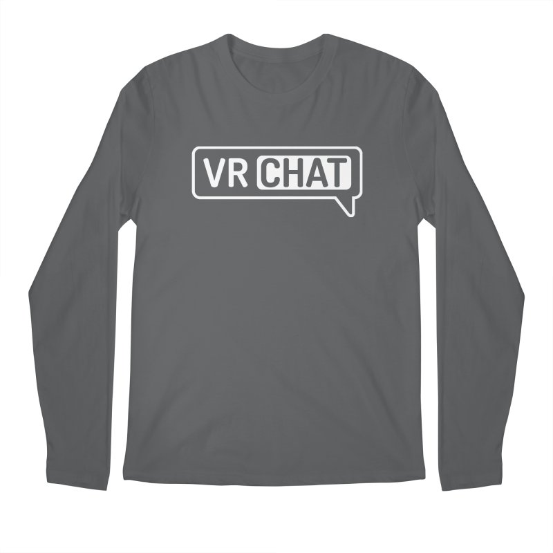 Men's Long Sleeve Shirts - Large White Logo Men's Longsleeve T-Shirt by VRChat Merchandise