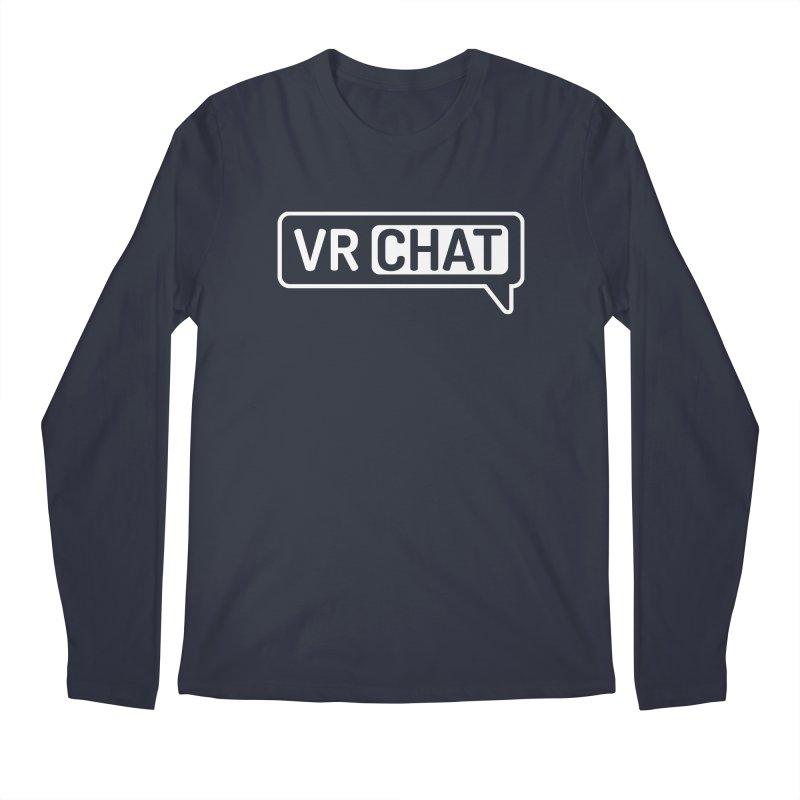 Men's Long Sleeve Shirts - Large White Logo Men's Regular Longsleeve T-Shirt by VRChat Merchandise