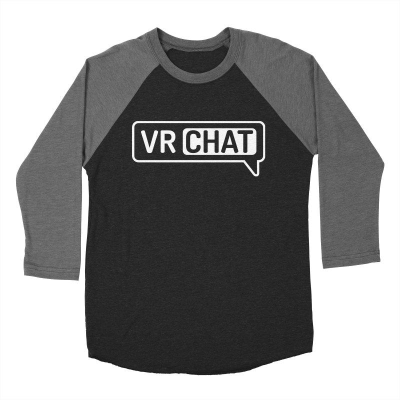 Men's Long Sleeve Shirts - Large White Logo Men's Baseball Triblend Longsleeve T-Shirt by VRChat Merchandise