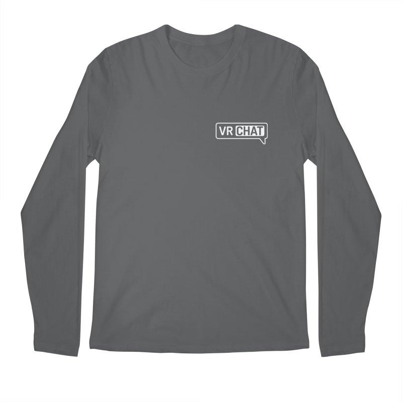 Men's Long Sleeve Shirts - Small White Logo Men's Longsleeve T-Shirt by VRChat Merchandise