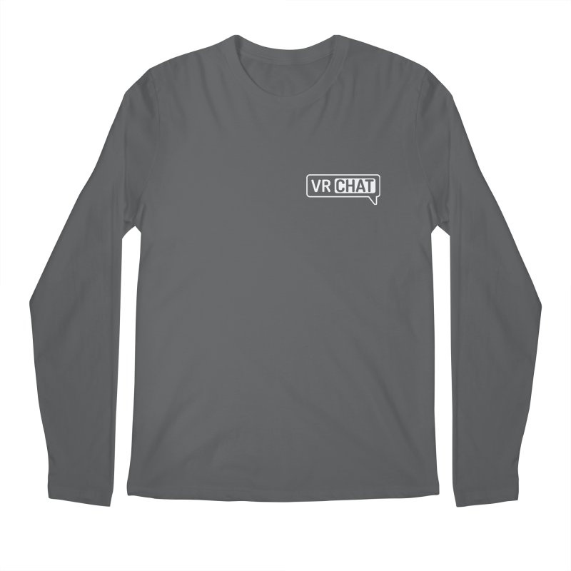 Men's Long Sleeve Shirts - Small White Logo Men's Regular Longsleeve T-Shirt by VRChat Merchandise