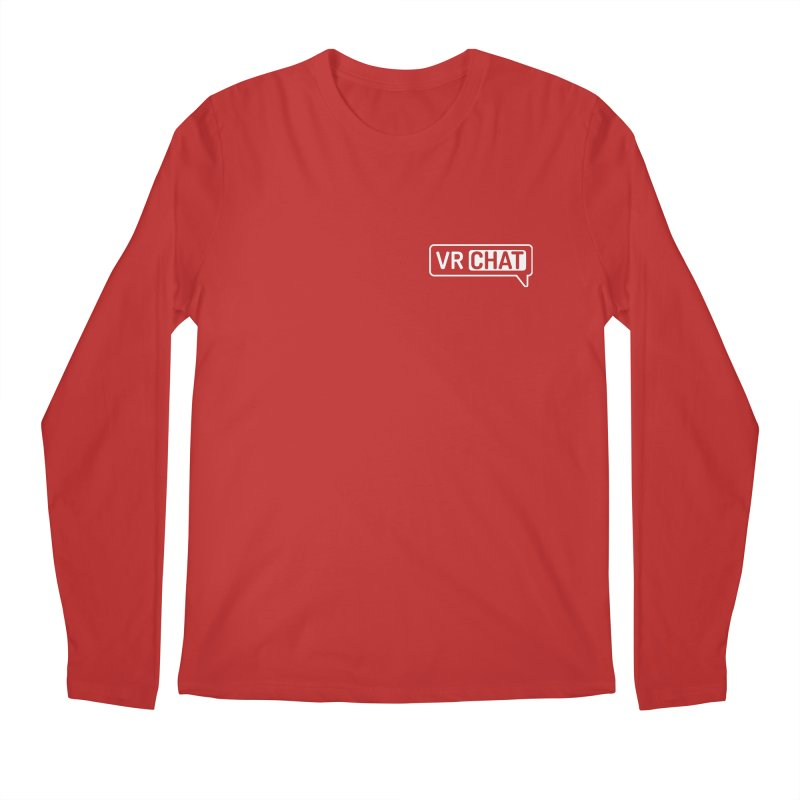 Men's Long Sleeve Shirts - Small White Logo Men's Regular Longsleeve T-Shirt by VRChat Merchandise