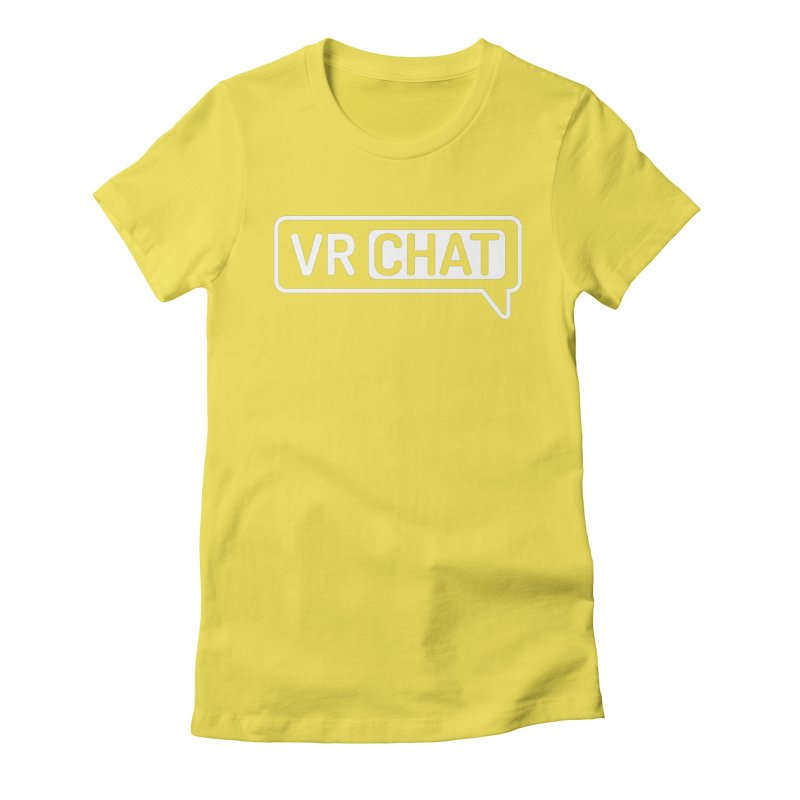 Women Short Sleeve Shirts - Large White Logo Women's T-Shirt by VRChat Merchandise