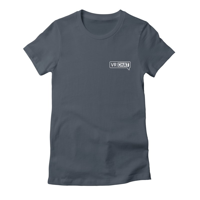 Women Short Sleeve Shirts - Small White Logo Women's T-Shirt by VRChat Merchandise