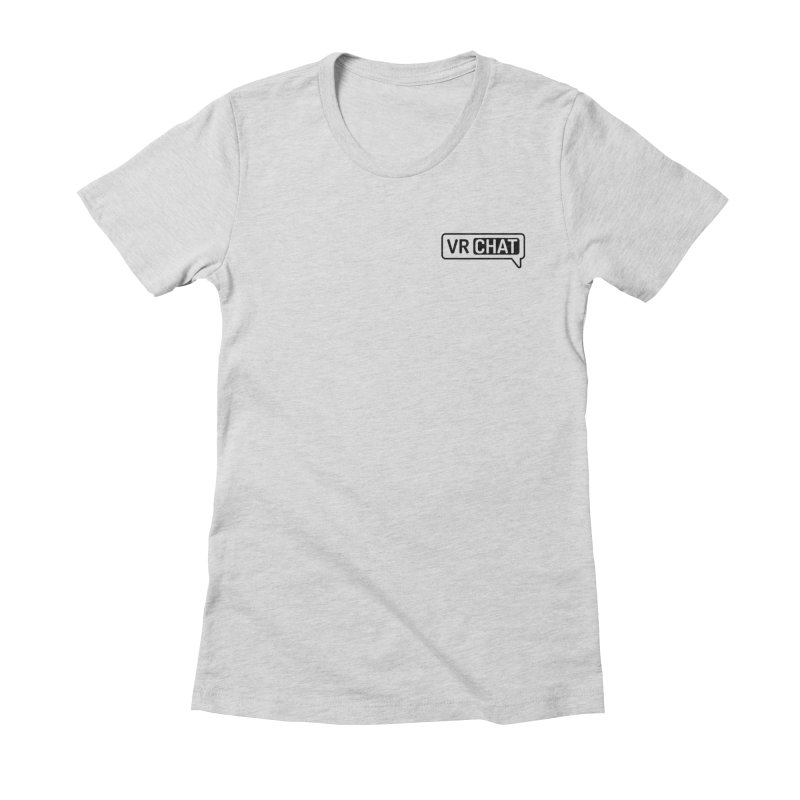Women Short Sleeve Shirts - Small Black Logo Women's Fitted T-Shirt by VRChat Merchandise