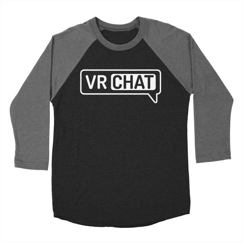 Women Long Sleeve Shirts - Large White Logo Women's Baseball Triblend Longsleeve T-Shirt by VRChat Merchandise
