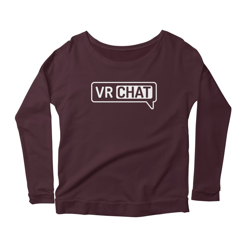 Women Long Sleeve Shirts - Large White Logo Women's Longsleeve T-Shirt by VRChat Merchandise