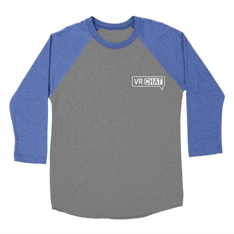 Women Long Sleeve Shirts - Small White Logo Women's Longsleeve T-Shirt by VRChat Merchandise