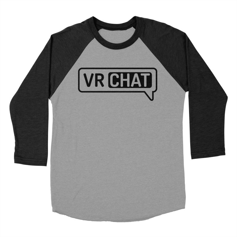 Women Long Sleeve Shirts - Large Black Logo Women's Baseball Triblend Longsleeve T-Shirt by VRChat Merchandise