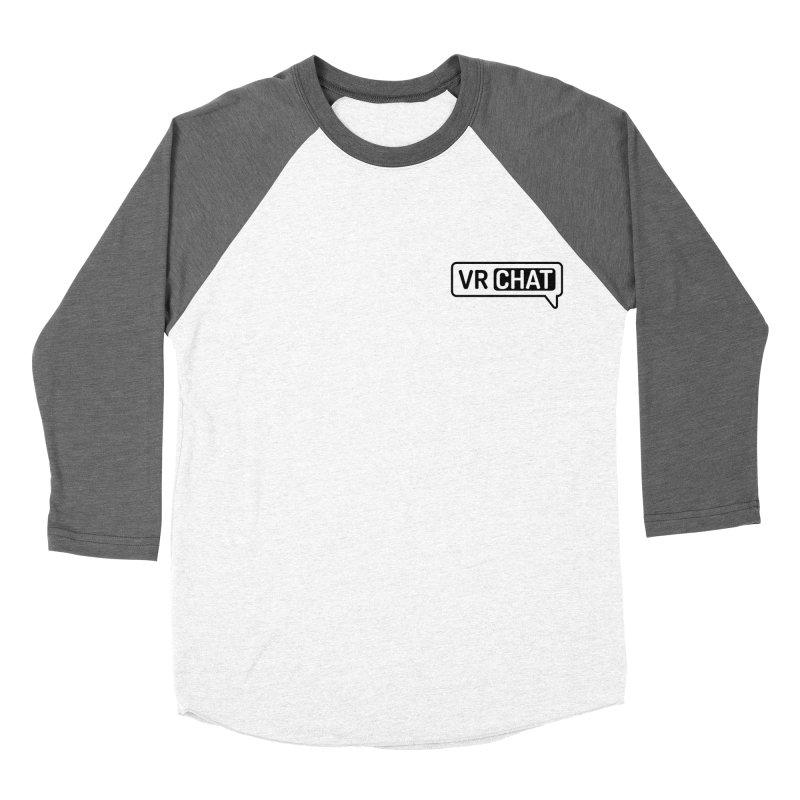 Women Long Sleeve Shirts - Small Black Logo Women's Baseball Triblend Longsleeve T-Shirt by VRChat Merchandise