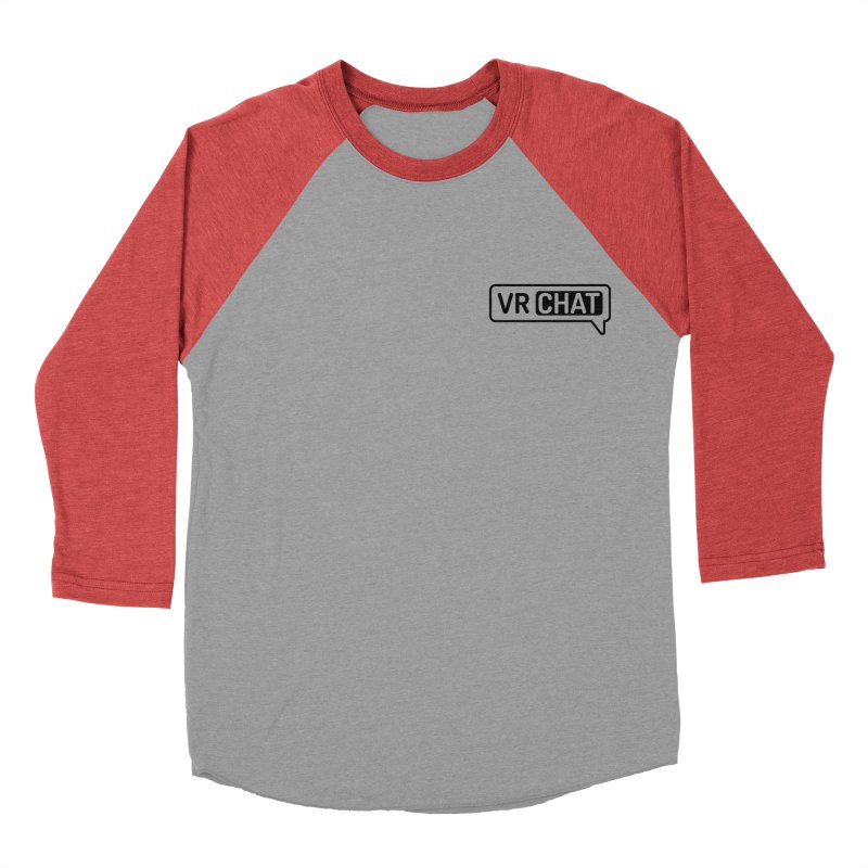 Women Long Sleeve Shirts - Small Black Logo Women's Baseball Triblend Longsleeve T-Shirt by VRChat Merchandise