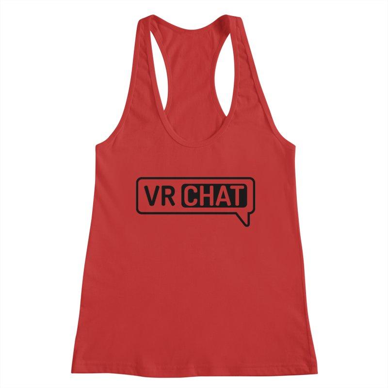 Women's Tank Tops - Large Black Logo Women's Tank by VRChat Merchandise