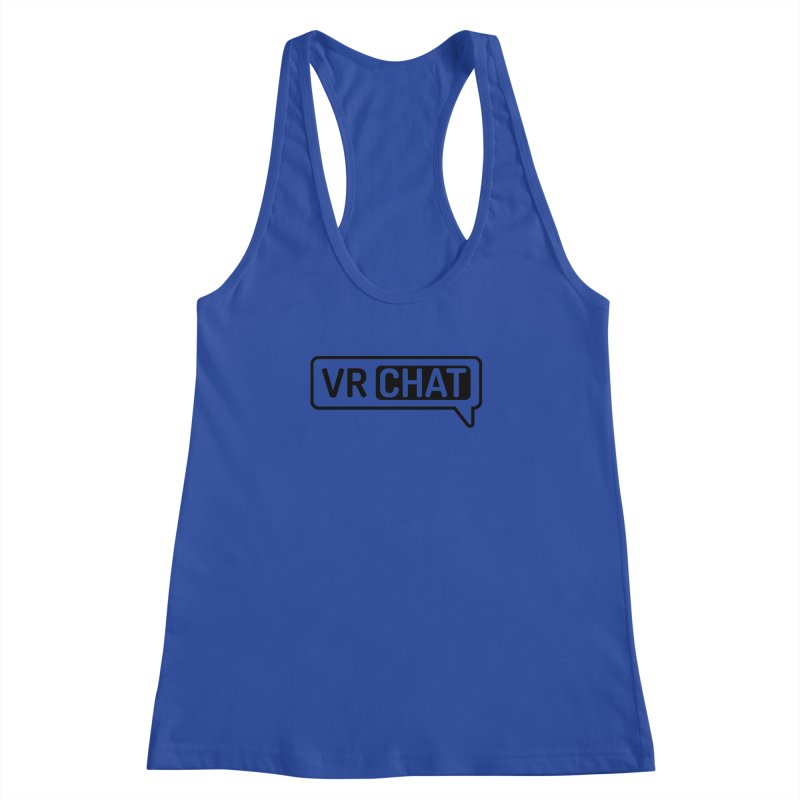 Women's Tank Tops - Large Black Logo Women's Racerback Tank by VRChat Merchandise