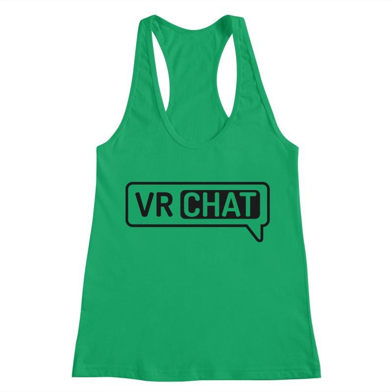 Women's Tank Tops - Small Black Logo Women's Racerback Tank by VRChat Merchandise