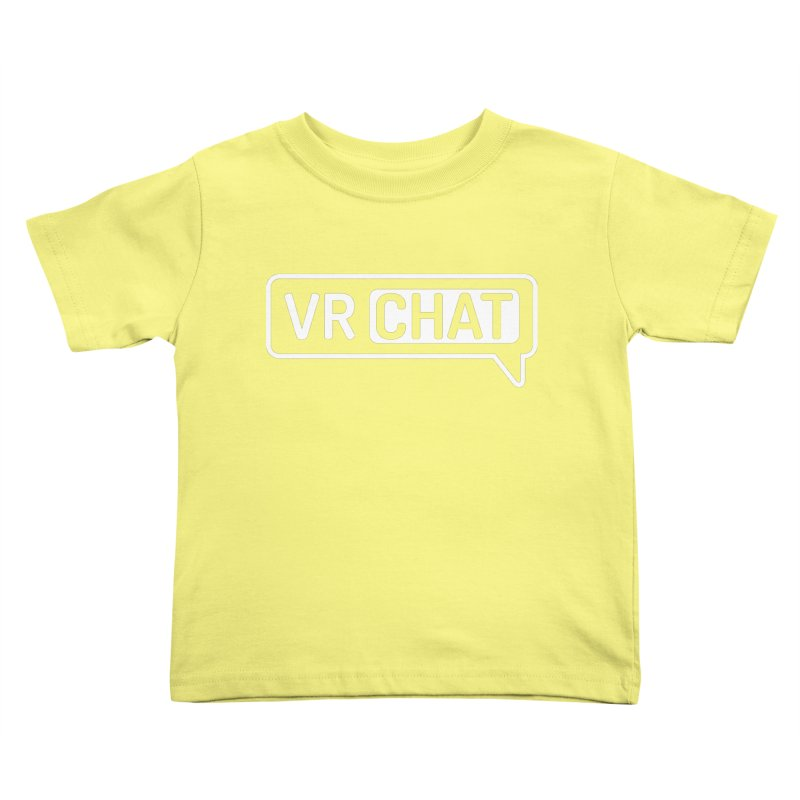 Kid's Short Sleeve Shirts - Large White Logo Kids Toddler T-Shirt by VRChat Merchandise
