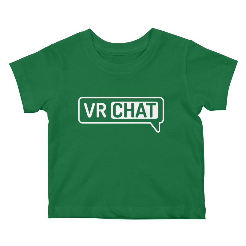 Kid's Short Sleeve Shirts - Large White Logo Kids Baby T-Shirt by VRChat Merchandise