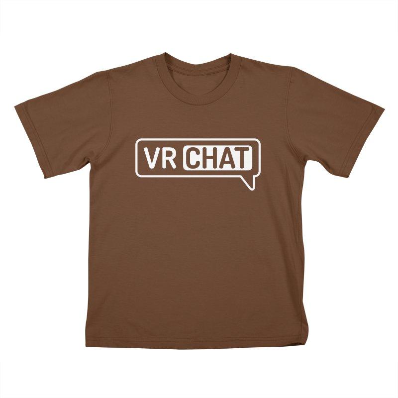 Kid's Short Sleeve Shirts - Large White Logo Kids T-Shirt by VRChat Merchandise