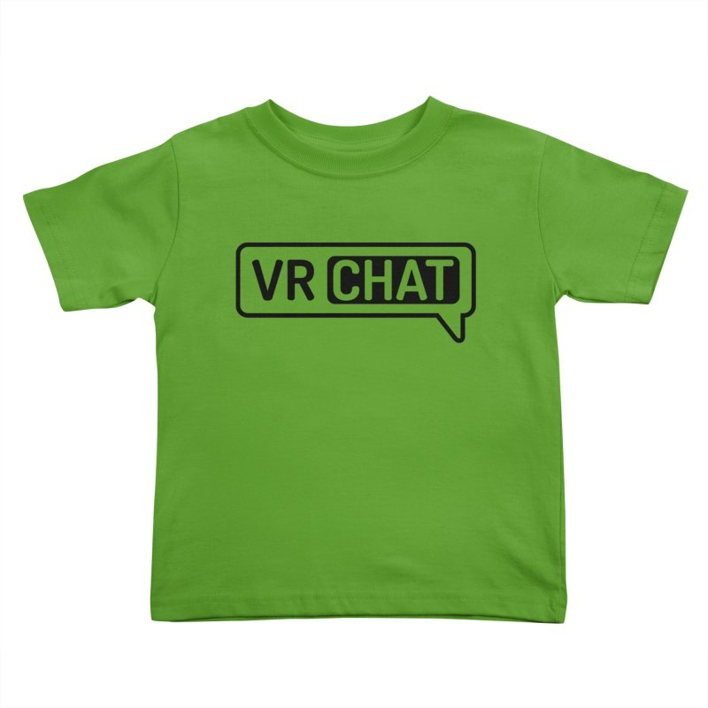 Kid's Short Sleeve Shirts - Large Black Logo Kids Toddler T-Shirt by VRChat Merchandise
