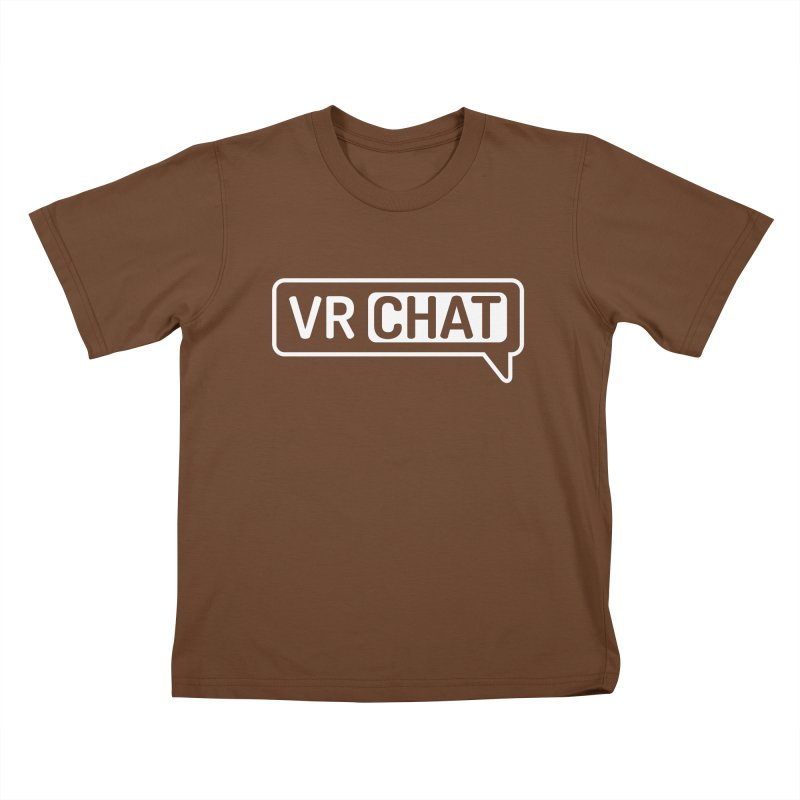 Kid's Long Sleeve Shirts - Large White Logo Kids T-Shirt by VRChat Merchandise