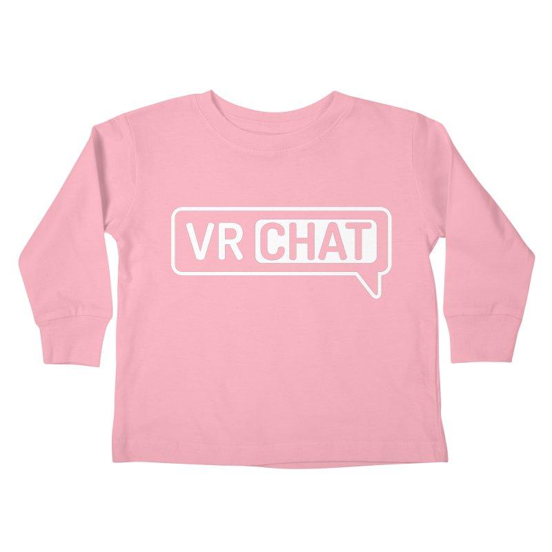 Kid's Long Sleeve Shirts - Large White Logo Kids Toddler Longsleeve T-Shirt by VRChat Merchandise