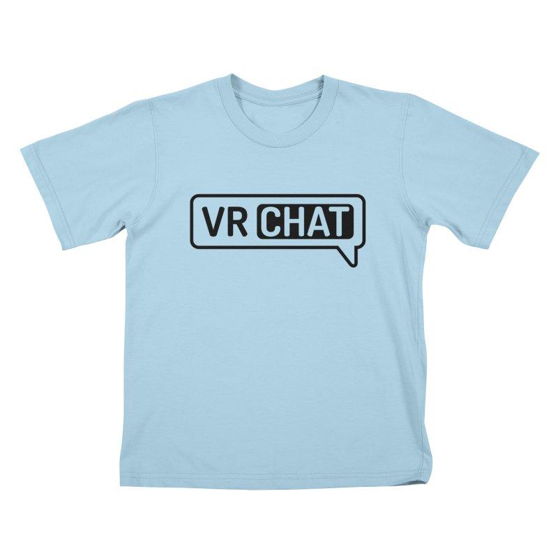Kid's Long Sleeve Shirts - Large Black Logo Kids T-Shirt by VRChat Merchandise