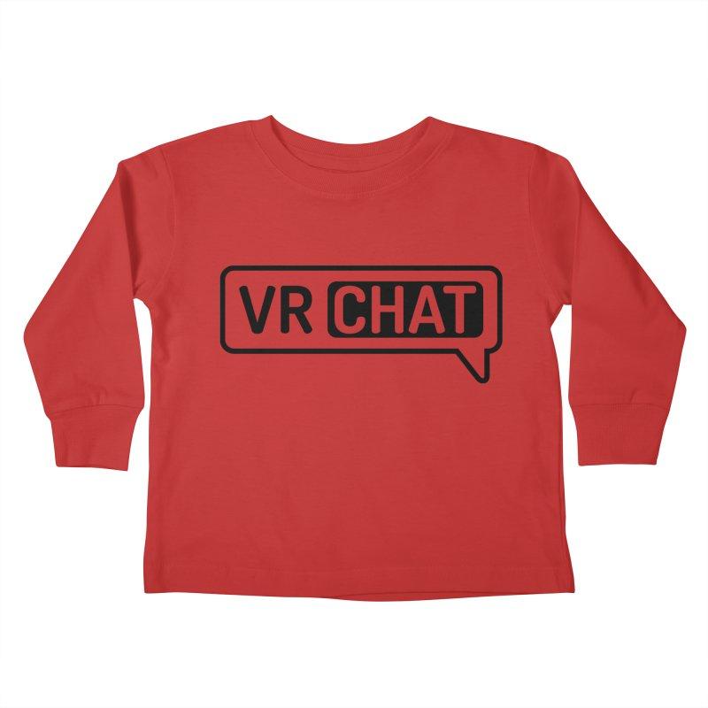 Kid's Long Sleeve Shirts - Large Black Logo Kids Toddler Longsleeve T-Shirt by VRChat Merchandise