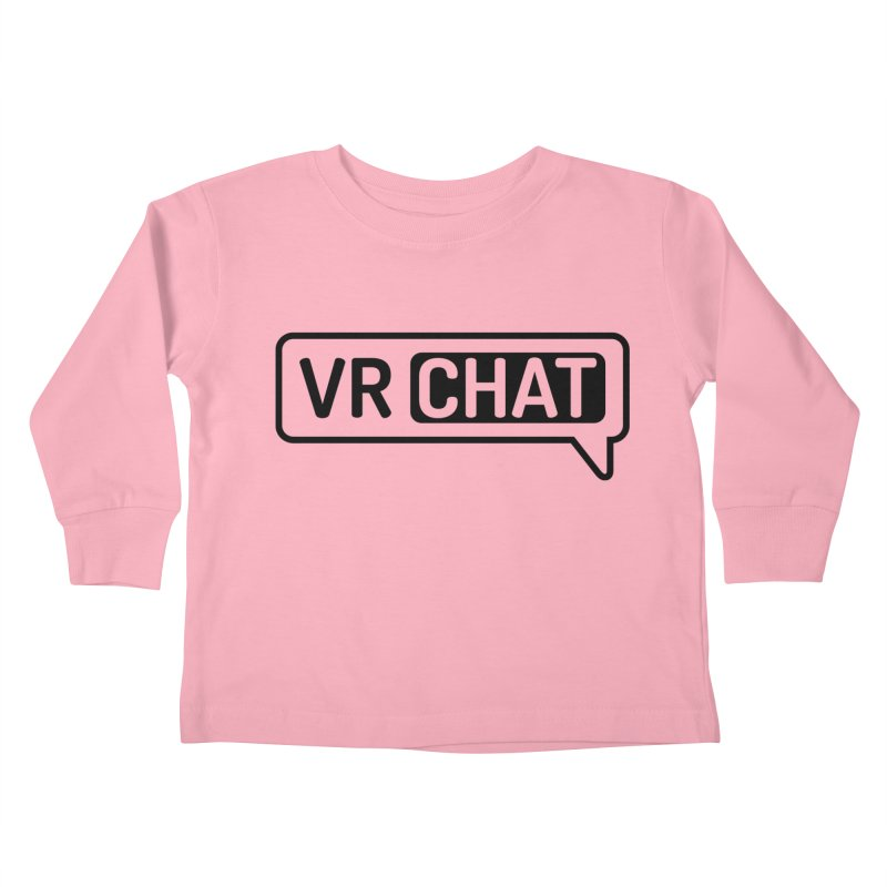Kid's Long Sleeve Shirts - Large Black Logo Kids Toddler Longsleeve T-Shirt by VRChat Merchandise