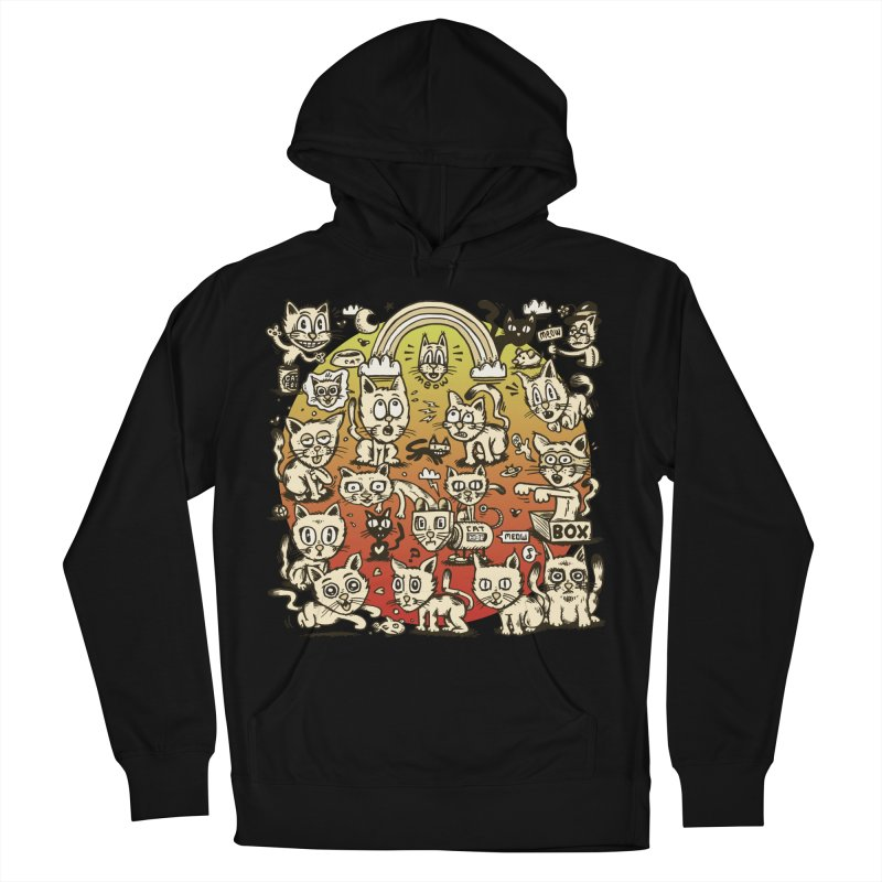 Cats of the World Men's French Terry Pullover Hoody by vtavast's Artist Shop