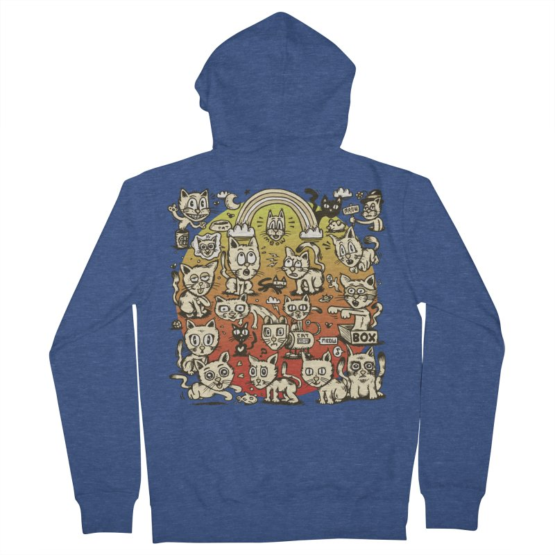 Cats of the World Women's French Terry Zip-Up Hoody by vtavast's Artist Shop