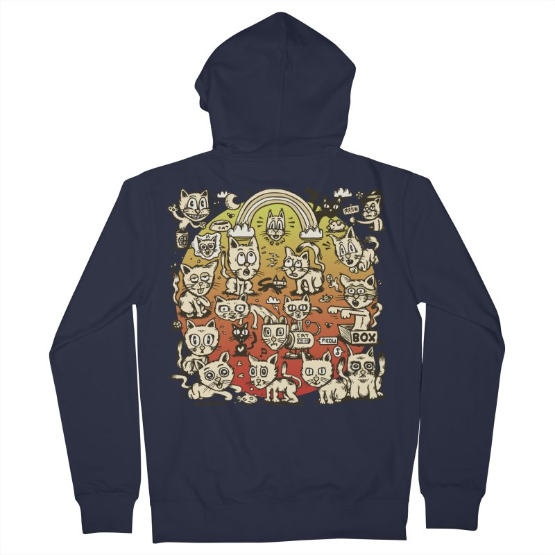 Cats of the World Men's French Terry Zip-Up Hoody by vtavast's Artist Shop
