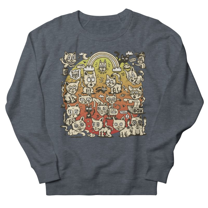 Cats of the World Men's French Terry Sweatshirt by vtavast's Artist Shop