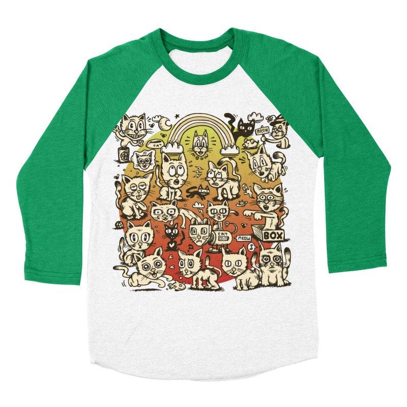 Cats of the World Women's Baseball Triblend Longsleeve T-Shirt by vtavast's Artist Shop
