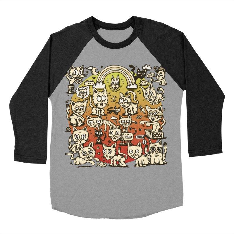 Cats of the World Men's Baseball Triblend Longsleeve T-Shirt by vtavast's Artist Shop