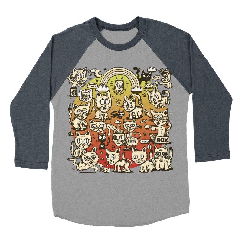Cats of the World Men's Baseball Triblend T-Shirt by vtavast's Artist Shop