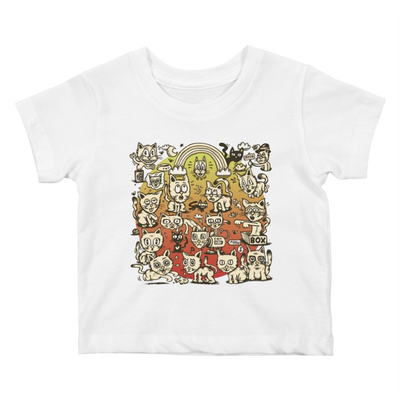 Cats of the World Kids Baby T-Shirt by vtavast's Artist Shop