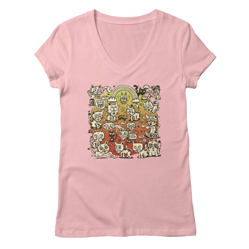 Cats of the World Women's V-Neck by vtavast's Artist Shop
