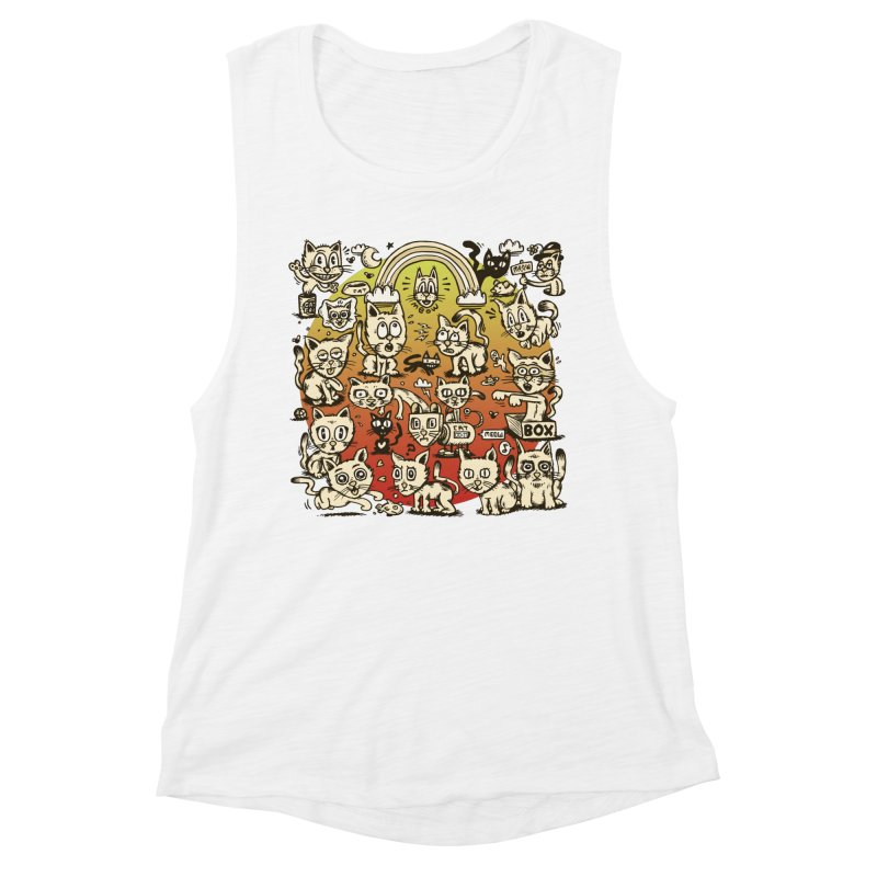 Cats of the World Women's Muscle Tank by vtavast's Artist Shop